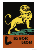L is for Lion Posters by Charles Buckles Falls
