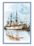 U.S. Navy: Docked Prints by Willy Stower