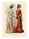 Attractive Afternoon Gowns Posters
