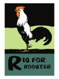 R is for Rooster Affiches par Charles Buckles Falls