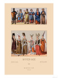 Medieval Aristocracy Print by Racinet