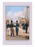 Navy Commander, Captain, and Lieutenant Prints by  Werner