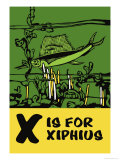 X is for Xiphius Prints by Charles Buckles Falls