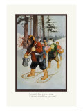 Teddy Roosevelt's Bears: The Snow-Shoe Club Posters by R.k. Culver