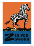 Z is for Zebra Posters by Charles Buckles Falls