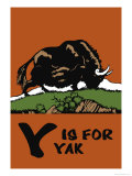 Y is for Yak Art by Charles Buckles Falls