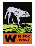 W is for Wolf Poster by Charles Buckles Falls