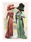 Le Costume Royals: Ladies in Ostrich Feathered Hats Print