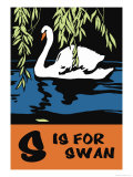 S is for Swan Prints by Charles Buckles Falls