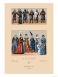 Knights and Maidens of the Middle Ages Posters by  Racinet