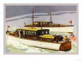 38 Foot Double Cabin Cruiser and 46 Foot Sport Cruiser Poster by Douglas Donald
