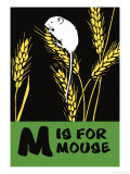 M is for Mouse Posters by Charles Buckles Falls