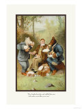 Teddy Roosevelt&#39;s Bears: Teddy B and Teddy G at a Picnic Prints by R.k. Culver