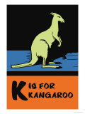 K is for Kangaroo Prints by Charles Buckles Falls