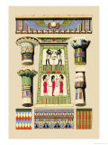 Egyptian Ornamental Architecture Prints by J. Gardner Wilkinson