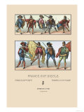 Masculine French Fashions of the Sixteenth Century Posters by  Racinet