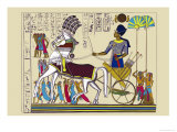 Ramses III Returning with His Prisoners Poster by J. Gardner Wilkinson