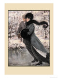 Winter's Date Print by Clarence F. Underwood