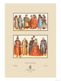 Sixteenth Century Fashions of the Polish Nobility Art by  Racinet