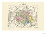 Paris, Capitale de la France Kunstdrucke von Alexandre Vuillemin