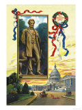 The St. Gaudens Statue and the Capitol Poster by C. Chapman