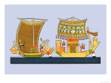 Boats from the Tomb of Ramses III at Thebes Print by J. Gardner Wilkinson