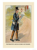 Postmaster Lincoln Going His Rounds Poster by Harriet Putnam