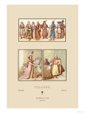 Sixteenth Century Fashions of the Polish Nobility Print by  Racinet