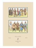 Costumes of Polish Commonfolk, Nineteenth Century Prints by  Racinet