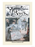Puck Magazine: The Rival Sandwich-Men Poster by Eugene Zimmerman