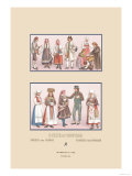 Popular Scandinavian Fashions of the Peasant Class Art by  Racinet