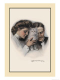 Cat Between Them Prints by Clarence F. Underwood