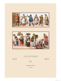 Styles of the English Commonfolk, Nineteenth Century Prints by  Racinet