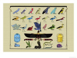Birds and Other Creatures from Egyptian Monuments Prints by J. Gardner Wilkinson