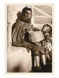 South African Mother and Child Posters by Leon V. Kofod
