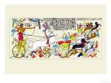 Battle Scene of Seti I and the Khita Poster von J. Gardner Wilkinson
