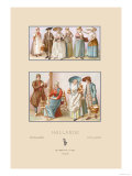Popular Fashions of Nineteenth Century Holland Prints by  Racinet