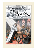 Puck Magazine: Politics in the Pulpit Stampe di Frederick Burr Opper
