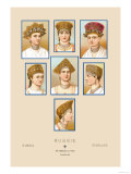 Russian Hats and Hairstyles Prints by  Racinet