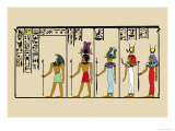 Horus, Ras, Isis and Ra-Ta Print by J. Gardner Wilkinson