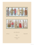 Russian Historical Figures and Popular Costumes Art by  Racinet