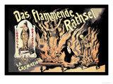 Das Flammende Rathsel Posters by Adolph Friedlander