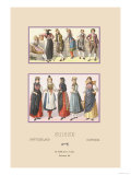 Variety of Swiss Fashions Prints by  Racinet