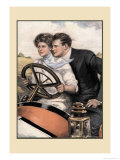 Love and Six Cylinders Posters by Clarence F. Underwood