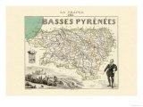Basses Pyrenees Kunstdruck von Alexandre Vuillemin