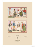 Peasant Fashions of Sweden and Norway Poster by  Racinet