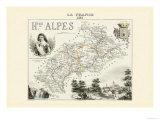 Hautes-Alpes Poster von Alexandre Vuillemin