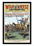 Wild West Weekly: Young Wild West's Bareback Beat Art
