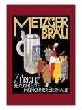 Metzger Blau Posters