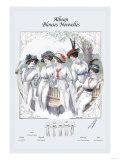 Album Blouses Nouvelles: Five Ladies in White Posters